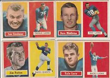 YALE LARY #68 1957 TOPPS  FOOTBALL CARD *****