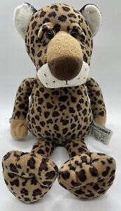 "VTG Russ Berrie Standad Leopard Cheetah Plush 14"" Floppy Beanbag Stuffed Toy"