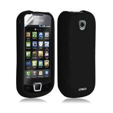 Coque silicone pour Samsung Galaxy Teos i5800 couleur noir + film