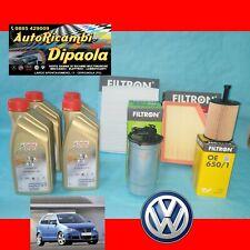 KIT TAGLIANDO VW VOLKSWAGEN POLO 9N 1.4 TDI 70 75 80 CV CASTROL 5W30 + 4 FILTRI