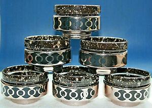 6 Ragout Fin Schalen - Förmchen, Keramik, Metall