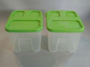Rubbermaid - Two Lunch Blox Salad Containers With Lids - NO INSERTS