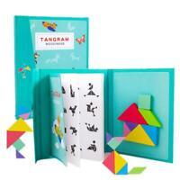 96 Puzzles Magnetic Tangram Kids Toys Montessori Educational Magic Book Suit