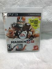 Madden NFL 12 PS3 (Playstation 3) NIB Sealed Also A Preowned Madden 11