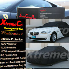 2015 BMW 528I 535I 535D 550I SEDAN Waterproof Car Cover w/Mirror Pockets - Black