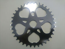 36T SWEET HEART CHAINRING SPROCKET 1/2 X 1/8 CHROME LOWRIDER CRUISER BICYCLE BMX