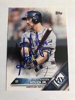 2016 Topps Steven Souza Jr #324 Auto Signed Autograph Rays