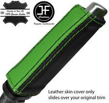 BLACK & GREEN STRIPE HANDBRAKE HANDLE LEATHER COVER FOR FORD FOCUS MK2 05-11