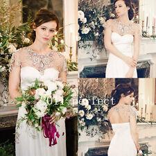 Rhinestone Wedding Dress Jackets Crystal Beads Cape Custom Made Bridal Boleros