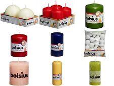 BOLSIUS Rustic Kerze Stumpenkerzen Kugelkerze  Adventskezen Weihnachtskerzen
