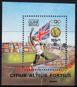 Guinea-Bissau Block 261 (825) , gestempelt / o / Olympische Spiele Los Angeles