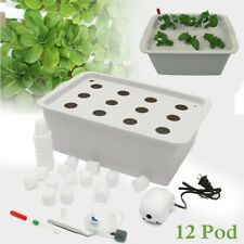12 Holes Plant Site Hydroponic System Grow Kit Bubble Indoor Cabinet Box Garden