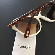 Tom Ford Priscila TF342 20F 60mm Pearl Torotise Plastic Cat-Eye Sunglasses NEW