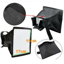 New 15x17cm Foldable Flash Diffuser Softbox For Canon Nikon Pentax Sony Olympus.