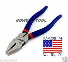 """Pro America Kal Tool 6"""" Lineman's Pliers Lineman Plier Cutter Dikes MADE IN USA"""