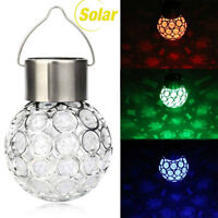 Waterproof Outdoor Solar Colorful Hanging Light LED Yard Patio Garden Lamp Decor