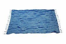 Oceano Turkish Peshtemal Beach Towel. Tie-Dye Blue, Cotton, Thin and Absorbant