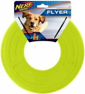 """NERF 10"""" NEON Medium to Large Dog Flyer Toy SAFE Frisbee STURDY Brand New w/Tags"""