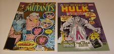 NEW MUTANTS 87 ( Cable) 2nd Print & HULK 1 Walmart Variant Marvel Comic
