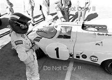 Jo Siffert Gulf Porsche 917 Portrait Photograph