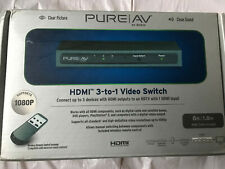 Belkin PureAV AV24502 HDMI Interface 3-to-1 Video Switch with Remote - 1080p