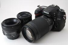 Nikon D7200 24.2MP 35-70/70-300/50mm Lens Set [Exc+++] w/Box,Hood,8GB SD [510]