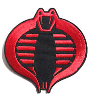 "GI Joe Red & Black Cobra Movie 3.5"" Embroidered Patch- FREES&H (GIPA-01)"