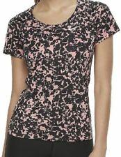 Women's Nike Miller T-shirt running Yoga top Dri-Fit mesh panels X-SMALL Pink