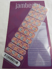 Jamberry Harvest Blooms A932 Nail Wrap ( Half Sheet )  Retired Design