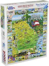 White Mountain Historic Georgia Map Collage 1000 Piece Jigsaw Puzzle New Sealed