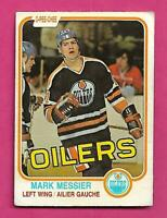 1981-82 OPC # 118 OILERS MARK MESSIER 2ND YEAR CREASED CARD (INV# D4916)