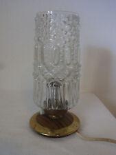 Mid Century 60's Single Bubble Glass Brass Desk Nightstand Bedside Lamp #<
