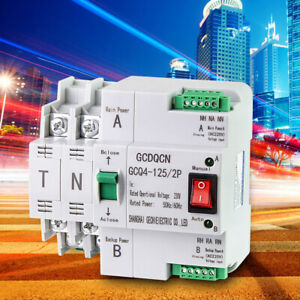 220V 63A 2P Smart Dual Power Automatic Transfer Safe Switch Circuit Breaker AU