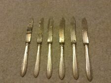 VINTAGE SILVER PLATE 1847 ROGERS BROS WARRANTED SET 6 FRUIT/ CHEESE KNIVES