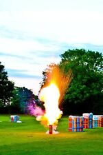 Launch-a-loved-one funeral firework send-off
