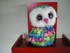 Ty Beanie Boos OWEN the owl - MEDIUM 9 INCH NWMT - approx 25cms