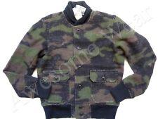 New Ralph Lauren Denim & Supply Wool Blend Knit Army Camo Bomber Jacket sz M