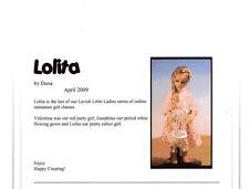 1:12 scale Miniature Doll Art Tutorials By Dana /Patterns/Clothes/Hair/+ Lolita