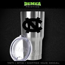 "UNC Tarheels -3"" DECAL/STICKER for Yeti/Rtic//Tumbler/Coffee/Wine"