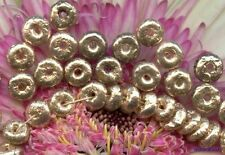 GLITZ VINTAGE SEQUINS Hollow CELLULOID GOLD METALLIC BEADS Puffy Paillettes 6mm
