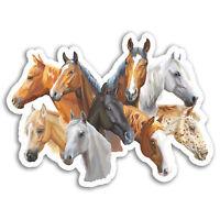 2 x 10cm Horse Heads Vinyl Stickers - Pony Horses Sticker Laptop Luggage #17303