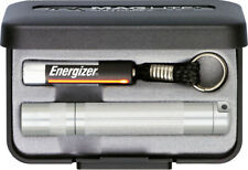 """MAGLITE Solitaire Single AAA Cell Flashlight 3 1/4"""" Overall Silver Gift Box"""