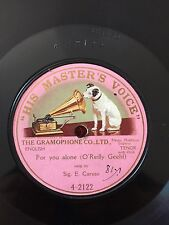 "RARE 78RPM 10"" ONE SIDED ENRICO CARUSO FOR YOU ALONE HIS MASTER'S VOICE 4-2122"