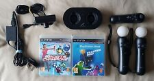 2 x PS Move Motion Controllers + 2 Games + Navigation + Dock + Camera PS3 PS4