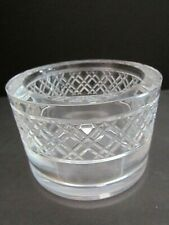"""Orrefors """"Reflections"""" Crystal Wine Champagne Bottle Coaster. Cross Cut. Candle"""