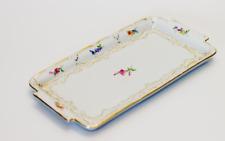 Meissen Porzellan Tablett B Form Plattenteller mit Blumenmalerei 1. Wahl