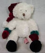 "Russ Holiday Christmas White Sparkly Teddy Bear 8"" Plush Stuffed Animal Toy"