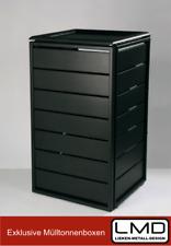 Mülltonnenbox Müllbox Aluminium Classic mit Klappdach 120L Bausatz Dunkelgrau
