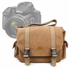 Brown Canvas Carry Bag/Case for Nikon Coolpix P900 SLR Camera W/ Shoulder Strap
