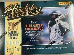 2021 Absolute Baseball Hobby Blaster Box Factory Sealed, 1 Auto or Memorabilia